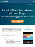 The Visible Threat: How to Prevent Undeclared Allergens