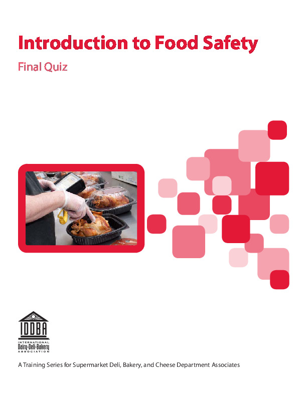 Introduction to Food Safety - Final Quiz