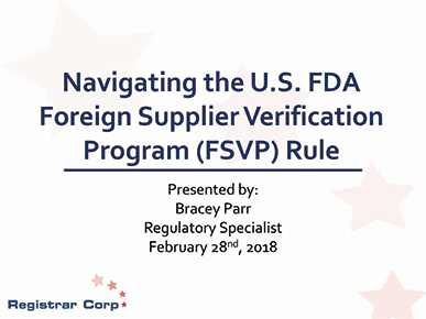 Navigating the FDA FSVP Rule