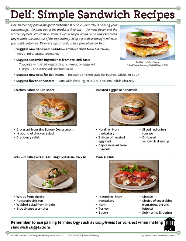 Deli Simple Sandwich Recipes Iddba