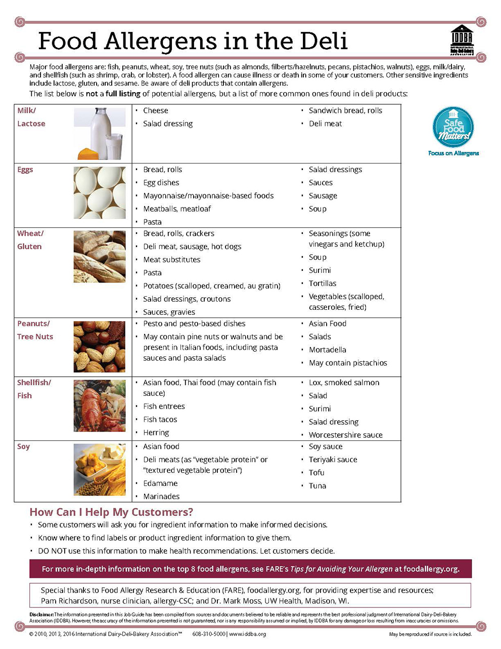 Food Allergens in the Deli