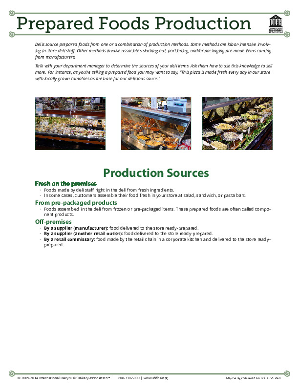 Prepared Foods Production