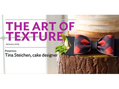 cake decorating art texture webinar