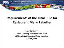 Restaurant Menu Labeling - Part 2